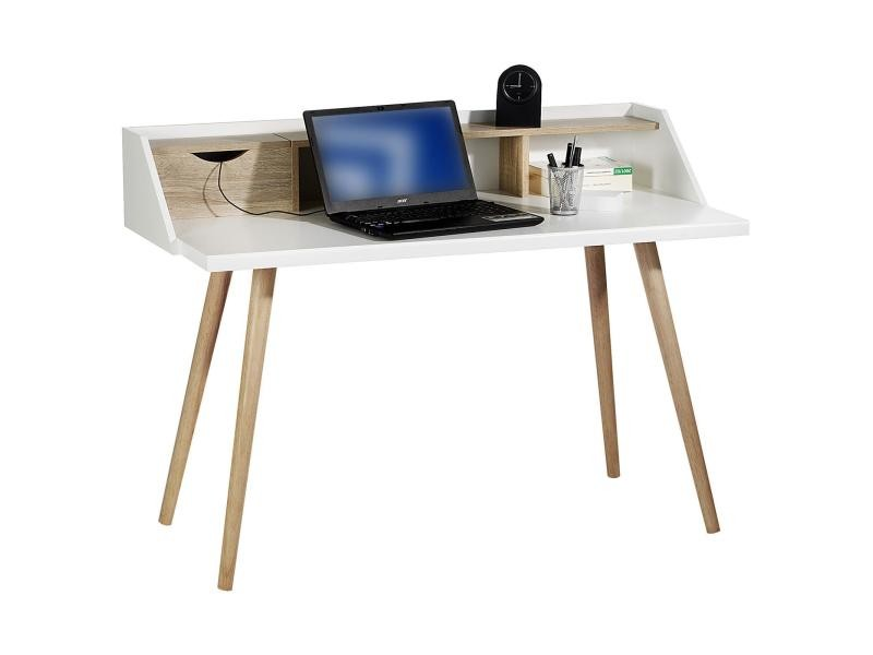 Console joan secrétaire style scandinave table d appoint bureau