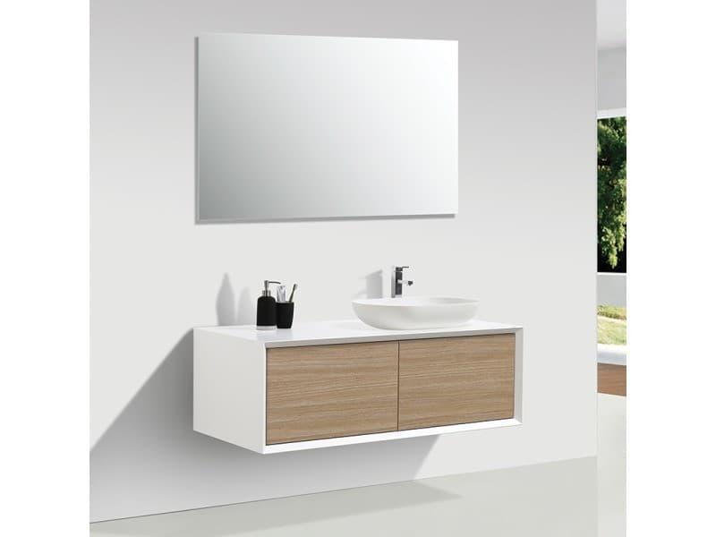 Meuble salle de bain double vasque palio 120 cm, blanc ...