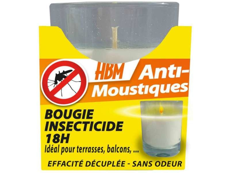 Bougie insecticide anti moustiques 18h hbm