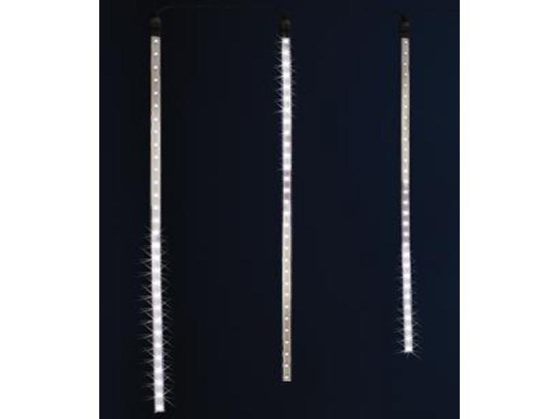 Rideau lumineux extérieur 7 tubes 210 led blanc, h 70 x l 210 cm -pegane-