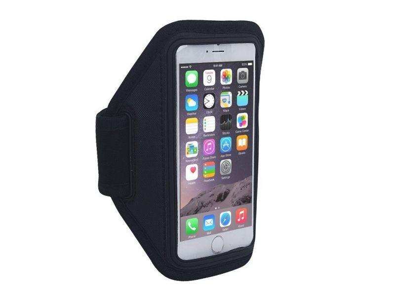 Brassard sport universel neoprene iphone 6 smartphones 5 pouces extensible noir - yonis