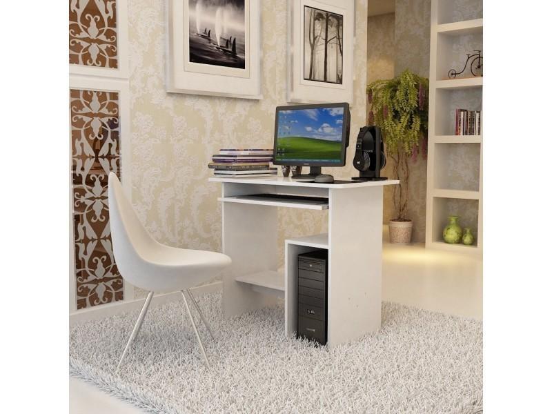 Superbe bureau informatique avec etagère blanc neuf sglcd w
