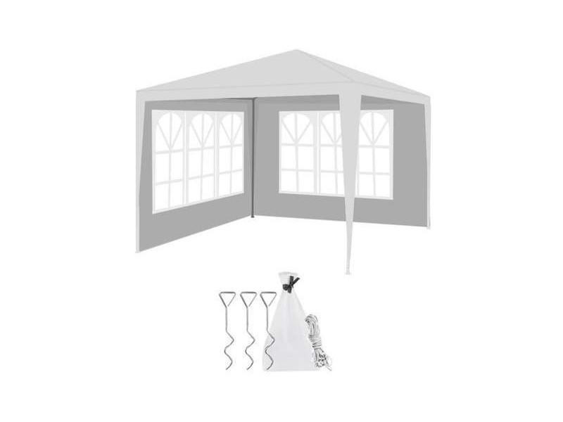 Tonnelle tente de réception pavillon 3x3m 2 parties latérales tonnelle tente de réception pavillon jardin chapiteau tente 1283