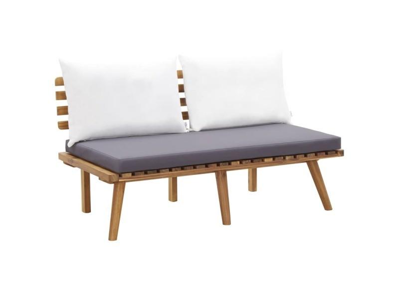 Chic sièges de jardin reference moroni banc de jardin avec coussins 115 cm bois solide d'acacia