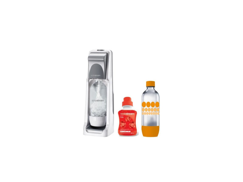 Sodastream pack : machine a gazeifier cool titan + 1 concentre cola 500ml + 1 bouteille grand modele pet SODCOOLGMEGAPACK