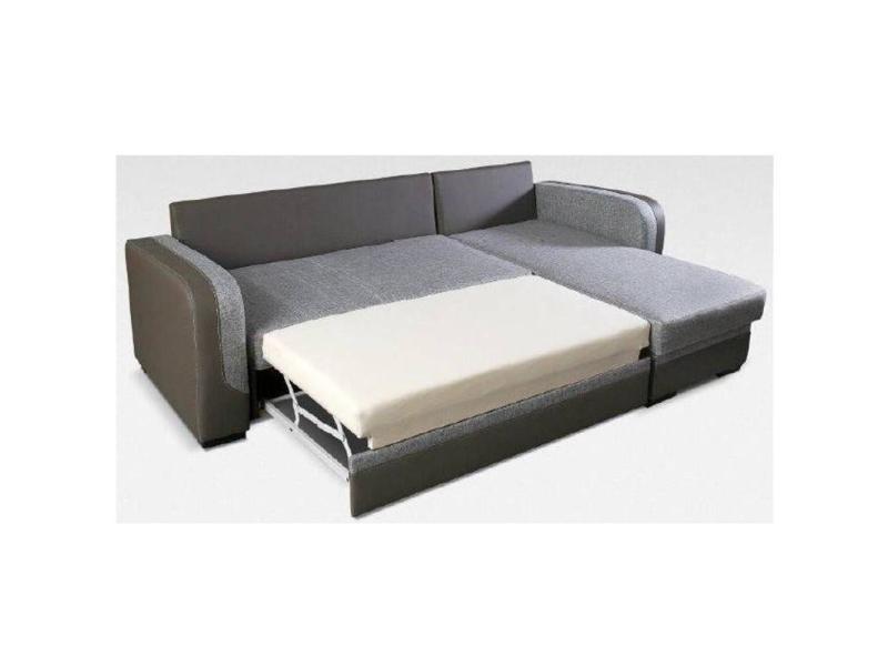 canap d 39 angle gigogne convertible rapido midleton 140cm gris et taupe 20100865403 vente de. Black Bedroom Furniture Sets. Home Design Ideas