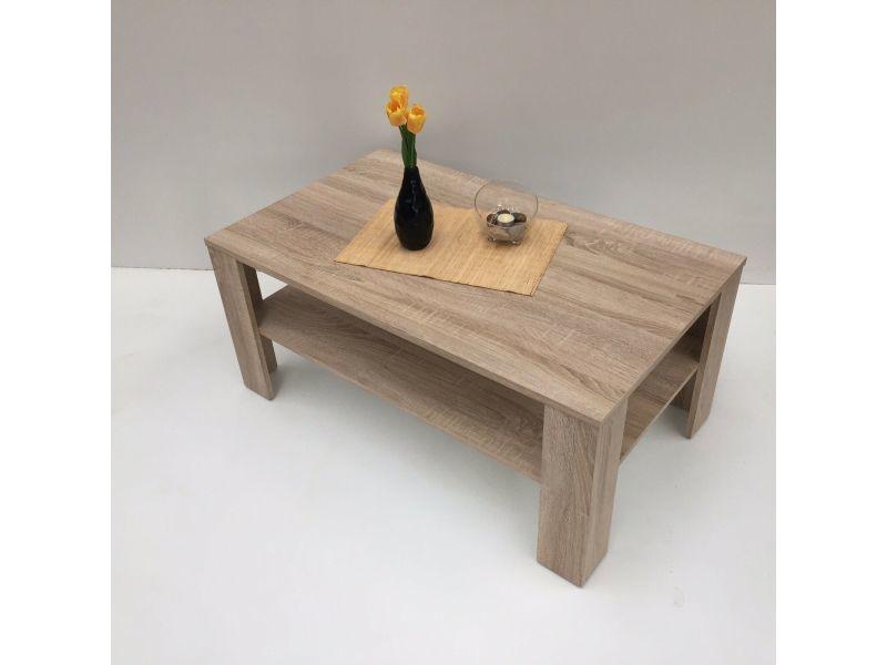 Table basse aspect chêne sonoma 100 cm