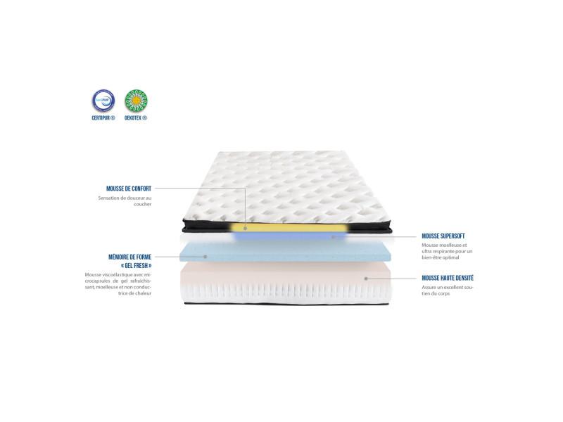 matelas carat 90x200 m moire de forme 26 cm vente de olympe literie conforama. Black Bedroom Furniture Sets. Home Design Ideas