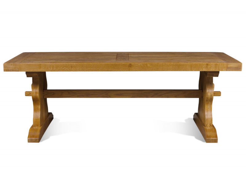 Table monastère la bresse - bois chêne massif l220