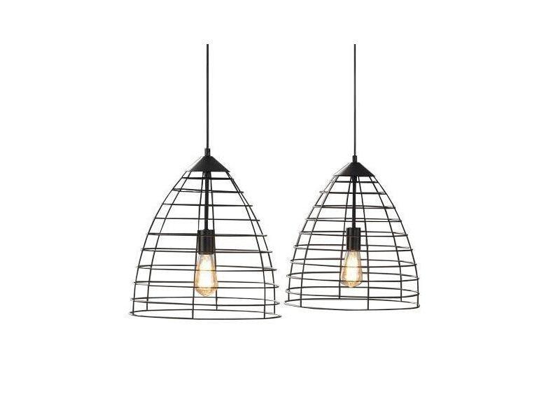 P Cadre Fil Noir Design Lampe 34360 2xø40 De Métallique Suspension 7Ygvbf6y
