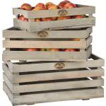 Caisses à fruits en pin (lot de 3)