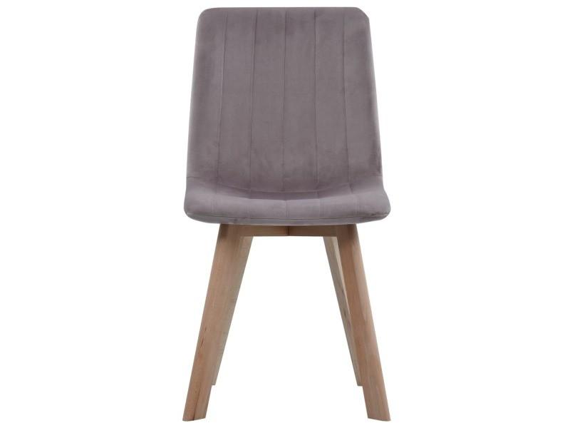 Vidaxl chaises de salle à manger 4 pcs rose velours 248211