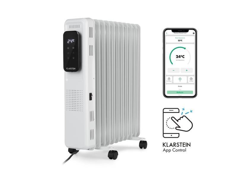Klarstein thermaxx elevate smart - radiateur à bain d' huile connecté 2720w , pour 54m² - blanc