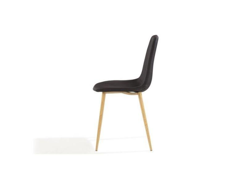 de 4 chaises noir pieds tissu Chaise en simili bjork lot b6vmY7fIgy