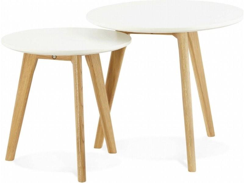 Table gigogne design espino CT00380WH