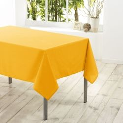 Nappe en polyester 140 x 200 cm jaune