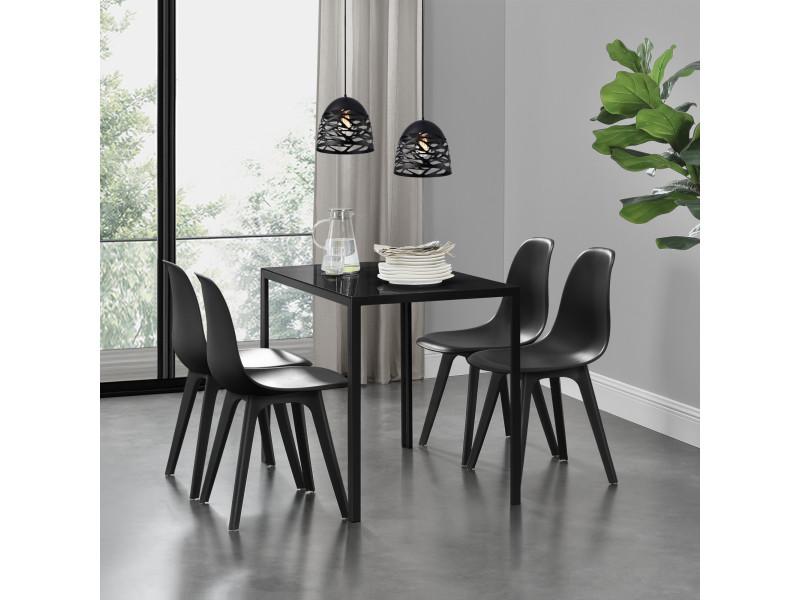 Ensemble table et 4 chaises table de salle - Conforama table et chaise salle a manger ...