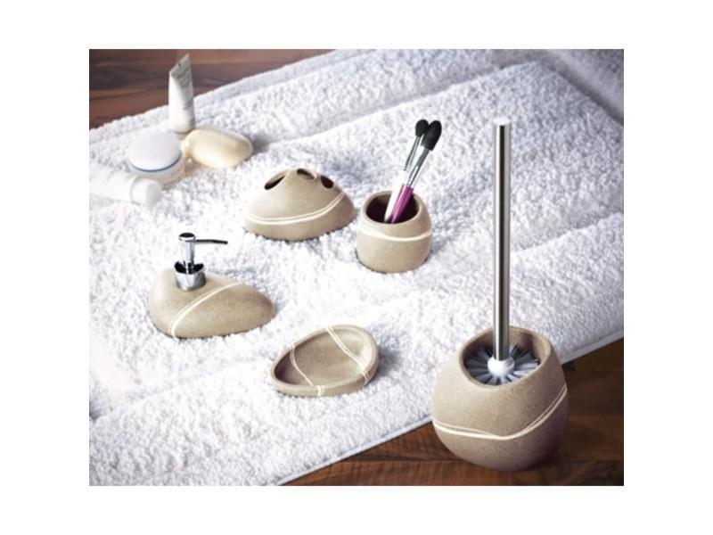Ridder brosse et porte-brosse de toilette little rock sable 429734