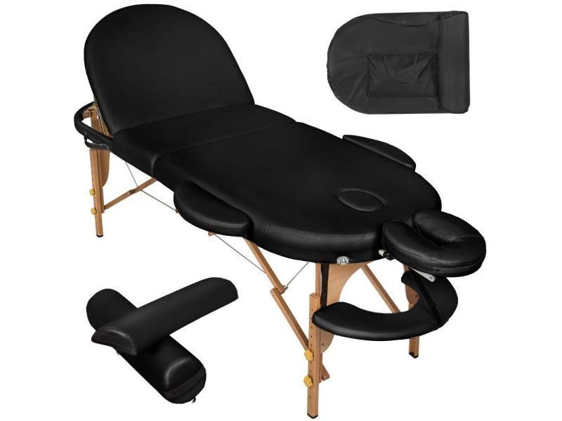 Table de massage 3 zones pliante 10 cm d'épaisseur noir helloshop26 2008131