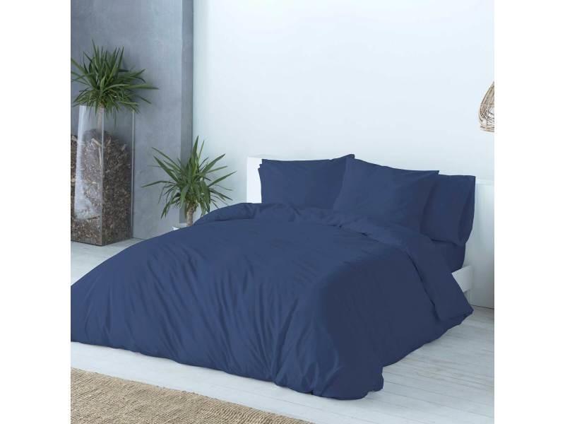Housse de couette casual  155x220 cm bleu marine/bleu 71936