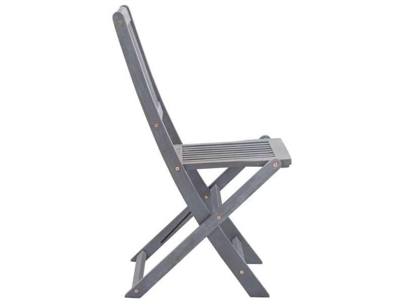Vidaxl chaises pliables d'extérieur 2 pcs bois d'acacia solide 46335