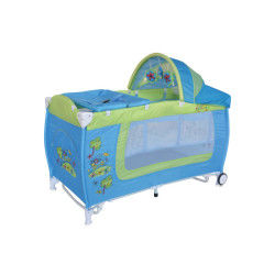 Lit parapluie bébé lit pliant + mode lit à bascule danny 2 bleu lorelli