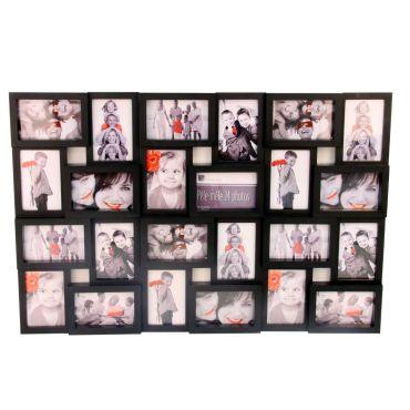 cadre photo p le m le mural coloris noir capacit 24 photos conforama. Black Bedroom Furniture Sets. Home Design Ideas