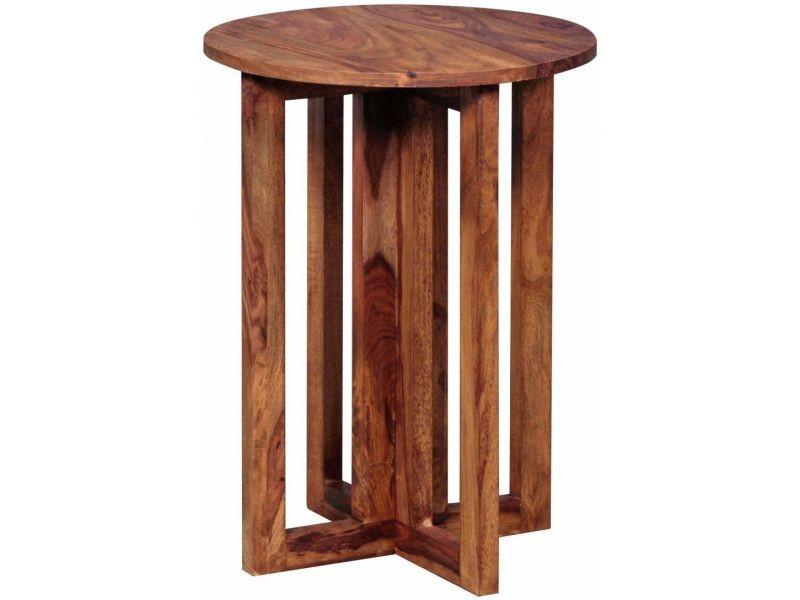 Table de chevet contemporaine 45x45 cm en bois massif collection c ...