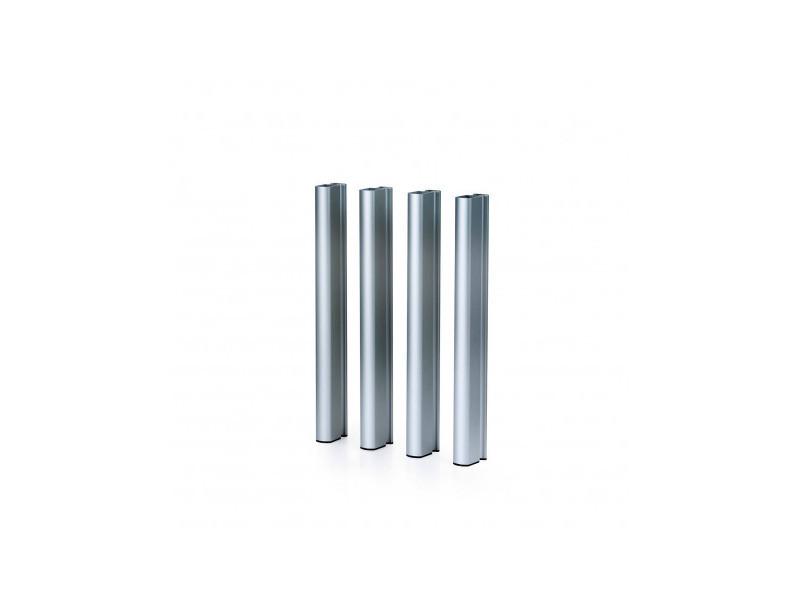 Pieds en aluminium couleur argent 75 h mediterraneo - 50151011542112