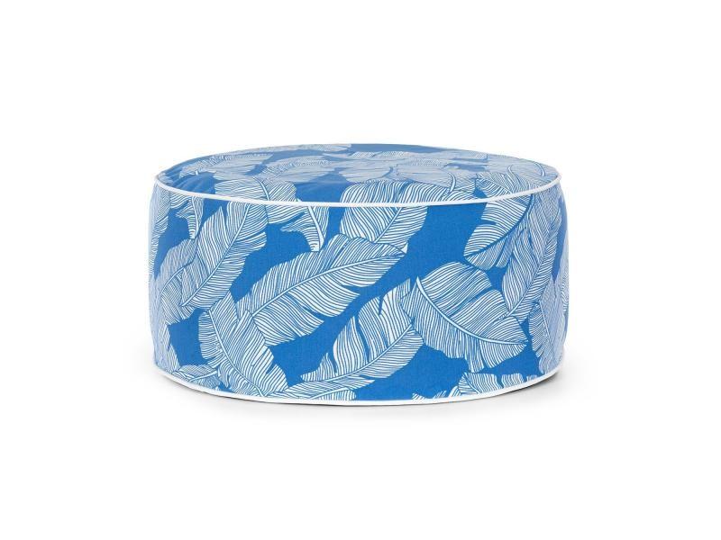 Blumfeldt cloudio tabouret de jardin gonflable 55 x 28 cm (øxh) , poignée de transport, pvc & polyester - bleu GDM11-Cloudio-2-BLUE