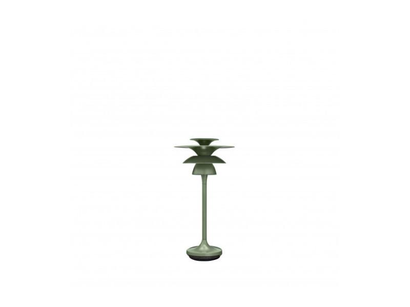 Lampe de table picasso en métal et vert avocat diamètre 18 cm