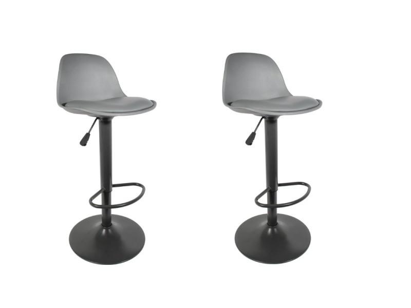 Chaise de bar - isak - h 104 cm - gris