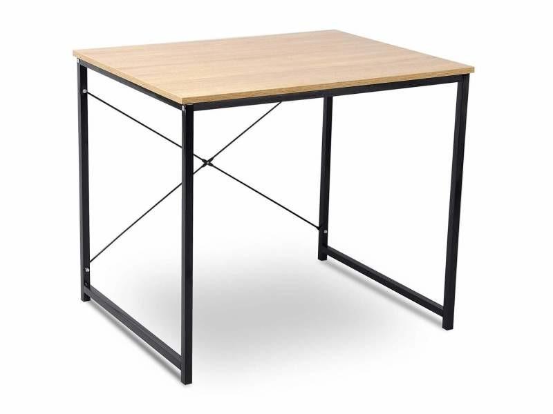 Grande table de bureau en chêne clair design de bureau helloshop26 19_0000573