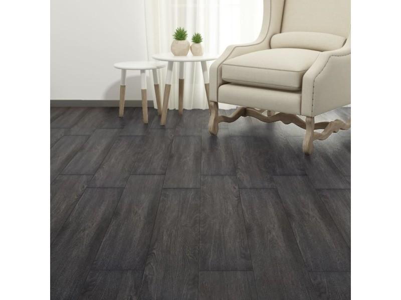 Icaverne - tapis et revêtements de sol gamme planches de plancher pvc 4,46 m² 3 mm noir