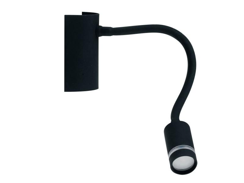Applique liseuse led flexible kepler noire en métal
