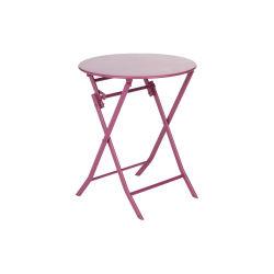 Table et chaises de jardin rouge | Conforama