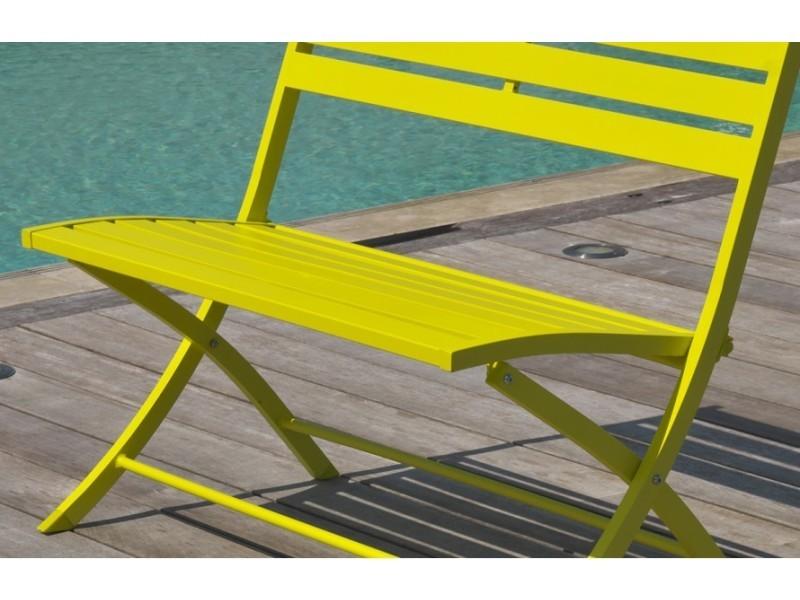 Banc de jardin en aluminium pliable jaune marius MARIUS-BP-JAUNE