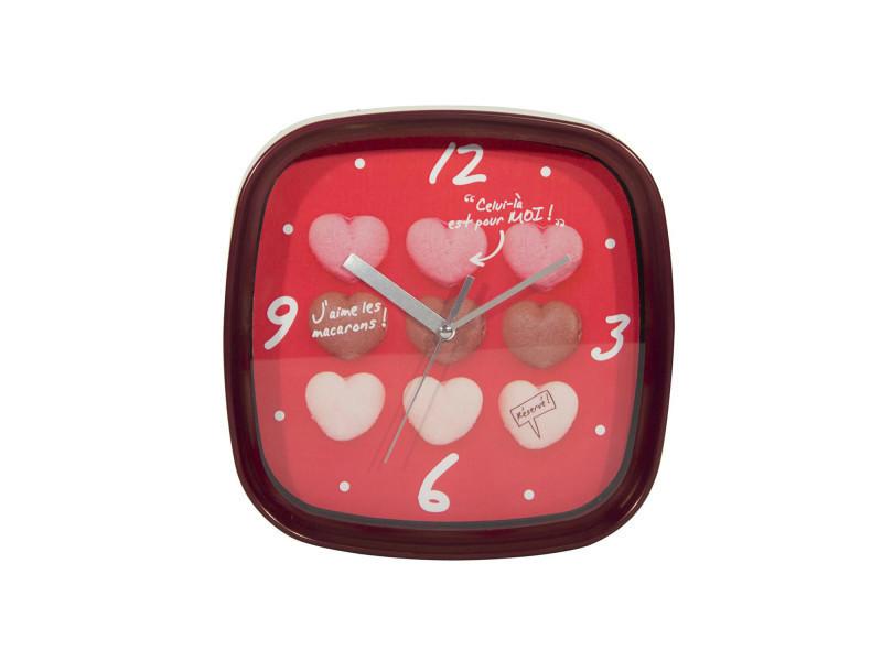 horloge murale macarons rouge conforama. Black Bedroom Furniture Sets. Home Design Ideas