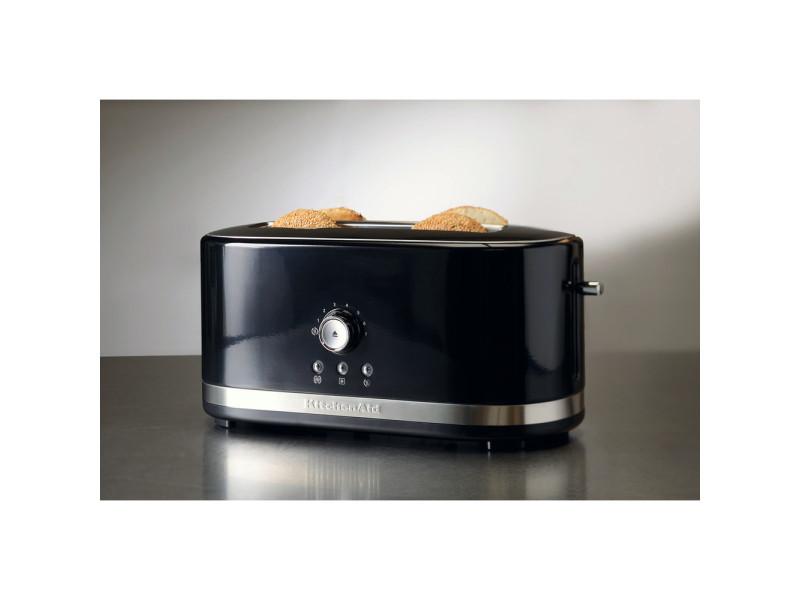 Grille pain avec 2 fentes longues 1800w noir onyx argent