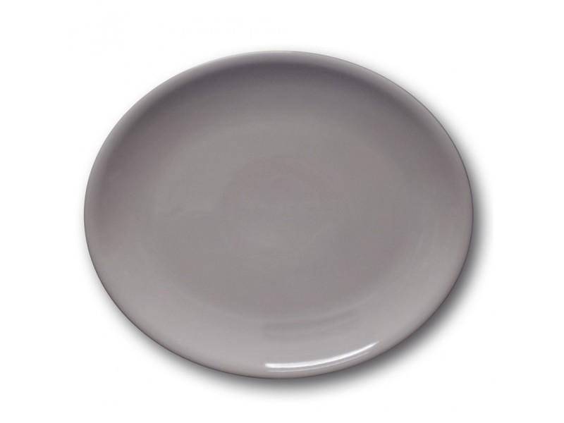 Assiette ovale porcelaine gris - l 28 cm - siviglia