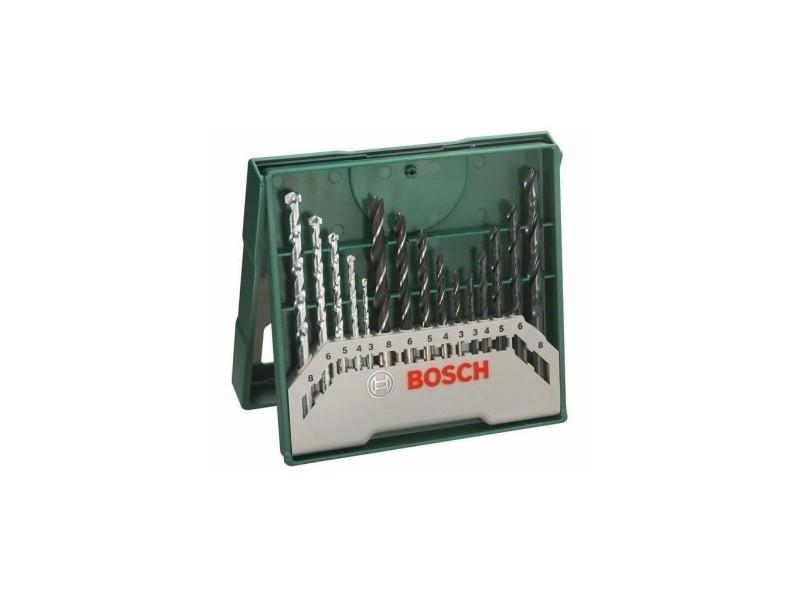 Bosch accessoires - mini set de 15 pieces pour perçage 2607019675