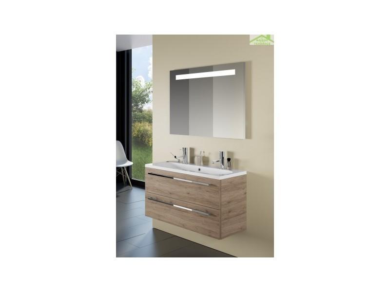 Ensemble meuble & lavabo riho cambio stretto set 12 100x38x h 58 cm - bois laqué brillant FSR100Z01DDDS13