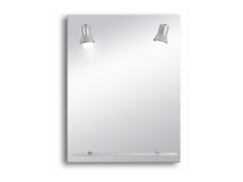 Miroir de salle de bains avec éclairage fluo-compacte ...