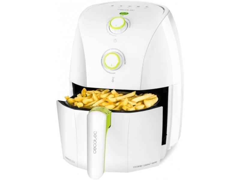 Friteuse sans huile cecotec cecofry compact rapid (1,5 l) couleur blanc