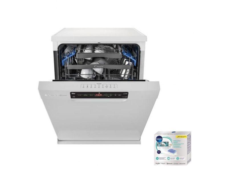 Lave-vaisselle posable blanc 43db a++ 15 couverts 60cm départ différé