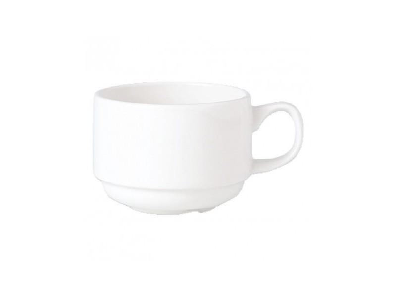 Tasses 200ml slimline empilables steelite simplicity white - lot de 36 - 0 cm porcelaine 20 cl