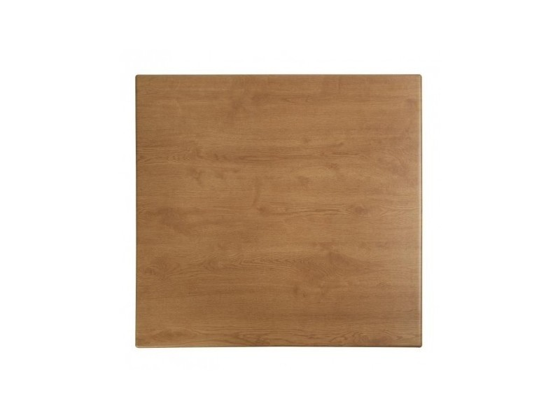 Plateau de table carré imitation chêne 700 mm werzalit