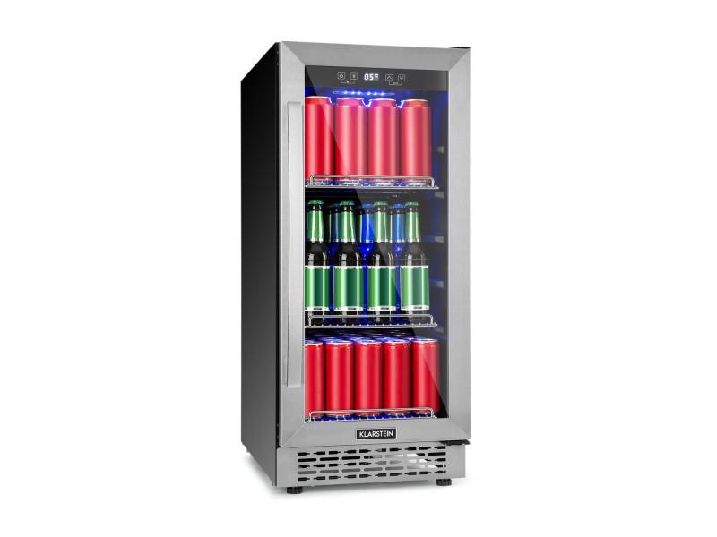 Klarstein beerlager 88 réfrigérateur à boissons 88l / 33 bouteilles - classe a - cadre inox noir TK15-Beerlager-88
