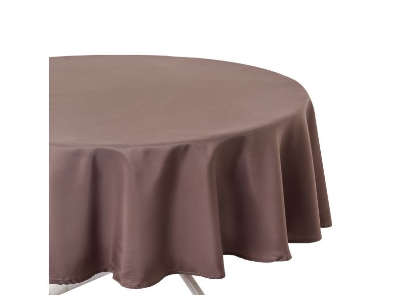Nappe anti-taches ronde ophy - diam 180 cm - taupe