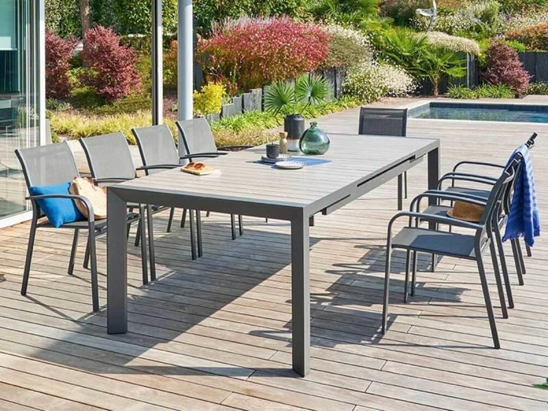 Table de jardin rectangulaire aluminium evasion 10 places - hespéride